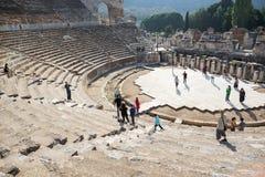 Oud theater Ephesus royalty-vrije stock afbeelding