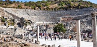 Oud theater Ephesus seljuk stock foto