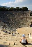 Oud Theater, Epidavros Stock Afbeeldingen
