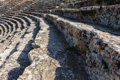 Oud theater in Hierapolis Royalty-vrije Stock Afbeelding
