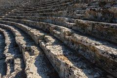 Oud theater in Hierapolis Stock Afbeeldingen