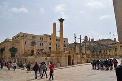 Oud theater in historisch centrum Valletta, Malta Royalty-vrije Stock Afbeelding