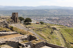Oud theater Pergamum Turkije royalty-vrije stock afbeeldingen