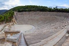 Oud Theater van Epidaurus, de Peloponnesus, Griekenland Royalty-vrije Stock Fotografie