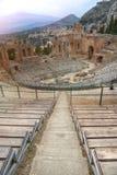 Oud theater van Taormina, Sicilië, Italië stock afbeelding