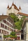 Oud Thun-Kasteel van stad van Thun, Zwitserland Royalty-vrije Stock Foto's