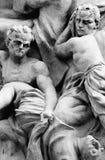Oud tijdgeweld - Godsdienstige kunst - stock afbeelding