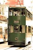 Oud tijdkarretje in Hongkong Stock Afbeeldingen