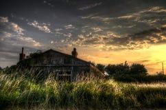 Oud Tin House Stock Foto's