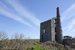 Oud Tin Mine Cornwall England Royalty-vrije Stock Foto