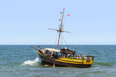 Oud toeristisch cruiseschip Royalty-vrije Stock Fotografie