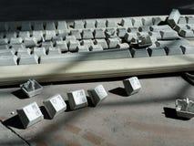 Oud toetsenbord stock foto