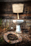 Oud Toilet Stock Foto