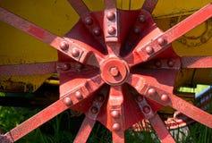 Oud tractorwiel Royalty-vrije Stock Afbeelding