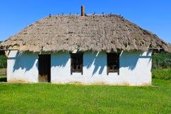 Oud traditioneel Oekraïens landelijk huis Stock Fotografie