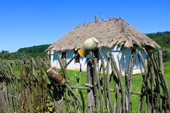 Oud traditioneel Oekraïens landelijk huis Royalty-vrije Stock Afbeelding