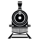 Oud treinpictogram Stock Afbeelding