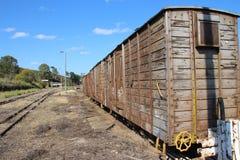 Oud treinvervoer Stock Fotografie