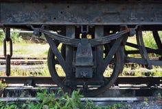 Oud treinwiel Stock Afbeeldingen