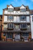 Oud Tudor House, Exe-Eiland, 6 Tudor Street, Exeter, Devon, het Verenigd Koninkrijk, 28 December, 2017 royalty-vrije stock afbeeldingen