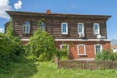 Oud two-storey huis in Kolomna het Kremlin Stock Foto