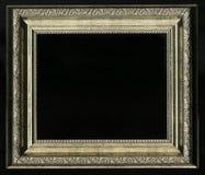 Oud, uitstekend, antiek die kader op zwarte achtergrond wordt geïsoleerd stock afbeeldingen