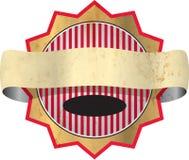 Oud grungy etiket met weg vector illustratie