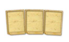 Oud uitstekend document met grungekaders Stock Foto