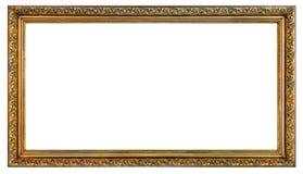 Oud uitstekend gouden kader royalty-vrije stock foto's