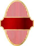 Oud grungy etiket met weg stock illustratie