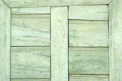 Oud uitstekend lichtgroen deurdetail Royalty-vrije Stock Foto