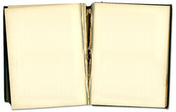 Oud uitstekend open boek Royalty-vrije Stock Foto's