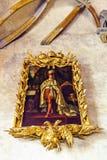 Oud uitstekend portret van een beroemde koning royalty-vrije stock foto's