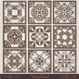 Oud uitstekend vierkant patroon Stock Afbeelding