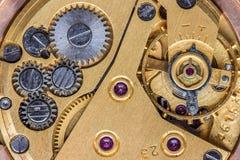 Oud uurwerk macroschot royalty-vrije stock fotografie