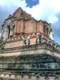 Oud van de de vrijheidstempel van de tempelgodsdienst van de levensstijlchang MAI Thailand Stock Afbeeldingen