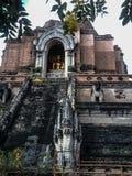 Oud van de de vrijheidstempel van de tempelgodsdienst van de levensstijlchang MAI Thailand Royalty-vrije Stock Foto