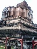 Oud van de de vrijheidstempel van de tempelgodsdienst van de levensstijlchang MAI Thailand Stock Foto