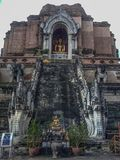 Oud van de de vrijheidstempel van de tempelgodsdienst van de levensstijlchang MAI Thailand Stock Fotografie