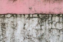 Oud van de stijl uitstekend muur roze als achtergrond Stock Afbeeldingen