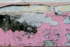 Oud van de stijl uitstekend muur roze als achtergrond Royalty-vrije Stock Afbeeldingen