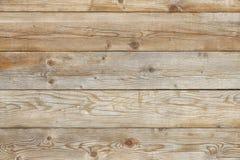 Oud van het de achtergrond pijnboomhout van de schuurmuur natuurlijk textuur vlak vooraanzicht Stock Afbeelding