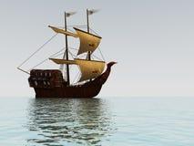Oud varend schip stock illustratie