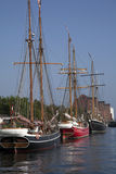 Oud varend schip in Kopenhagen Royalty-vrije Stock Afbeelding