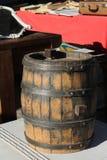 Oud vat voor wijn royalty-vrije stock foto's