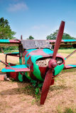 Oud vechtersvliegtuig Royalty-vrije Stock Afbeeldingen