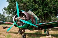 Oud vechtersvliegtuig Royalty-vrije Stock Afbeelding