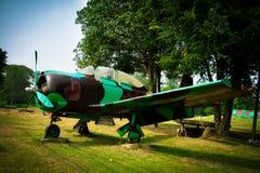 Oud vechtersvliegtuig Stock Afbeelding