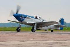 Oud vechtersvliegtuig Royalty-vrije Stock Foto's