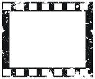 Oud vectorfilmframe in grungestijl Stock Foto's